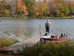 fishing on lake namakagon