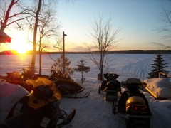 snowmobile resort on lake namakagon