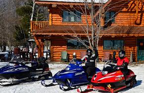 Snowmobiles at Four Seasons Resort